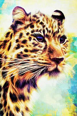 Digital Art - Cheetah Girl by Tina LeCour