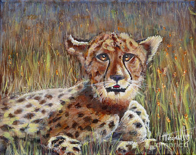 Masai Painting - Cheetah In The Wild by Mohamed Hirji