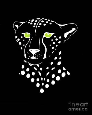 Digital Art - Cheetah Inverted by Alycia Christine