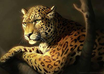 Cheetah Drawing - Cheetah by Irene Rantza