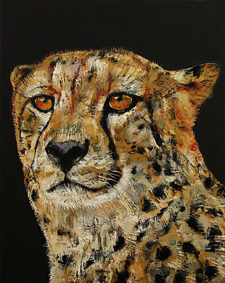 Cheetah Painting - Cheetah by Michael Creese