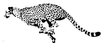 Home Painting - Cheetah Running by Katrina Britt