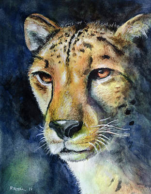 Painting - Cheetah Watercolor by Rick Mosher