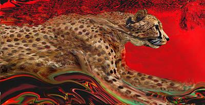 Painting - Cheetah1 by Martin Hardy