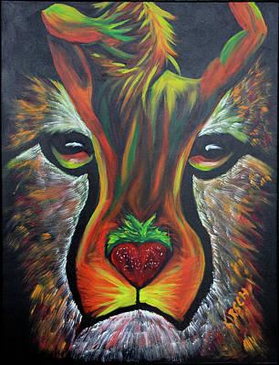 Carlos Santana Painting - Cheetahh by Robert Kirsch