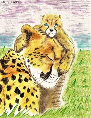 Cheetah Drawing - Cheetahs by Bryant Lamb