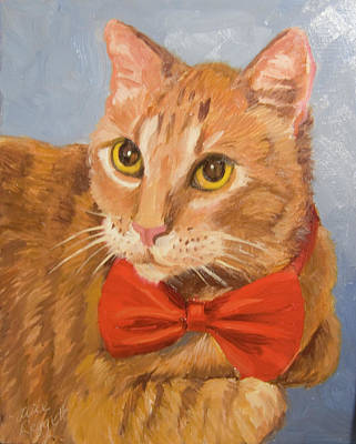 Painting - Cheetoh Cat Portrait by Alice Leggett
