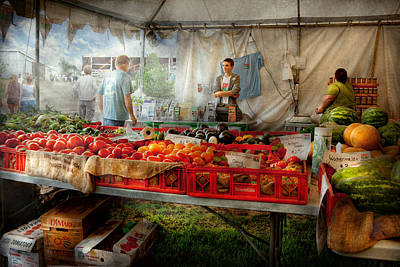 Chef - Vegetable - Jersey Fresh Farmers Market Art Print by Mike Savad