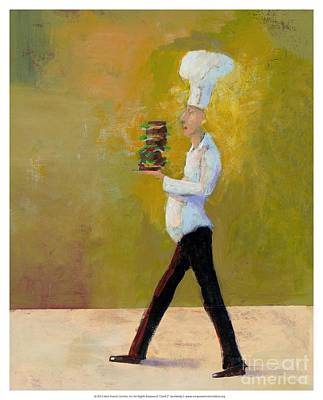 Sandwich Painting - Chef 2  by Empowered Creative Fine Art