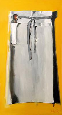 Painting - Chef Apron by Barbara Andolsek