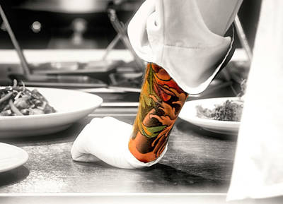 Photograph - Chef With Tattoo by David Kay