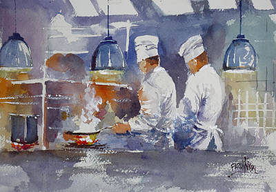 Fire Equipment Painting - Chefs In Kitchen  by Faruk Koksal