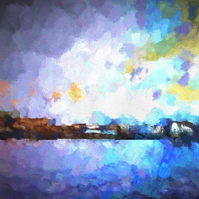 Chelan Winter Impression 1 Art Print by Tonya Doughty