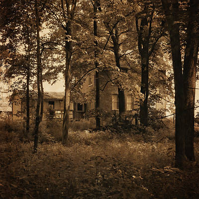 Photograph - Chellburg Home Through The Trees by Scott Kingery