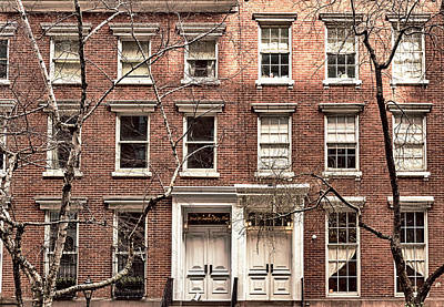 Photograph - Chelsea Brownstones by Alison Frank