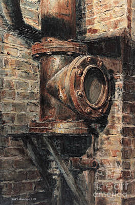 Painting - Chelsea Market Pipe by Joey Agbayani