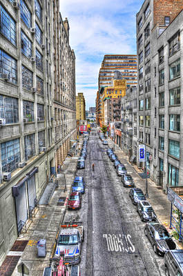 Chelsea Street From The High Line Art Print by Randy Aveille