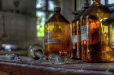 Lab Digital Art - Chem Jars by Nathan Wright