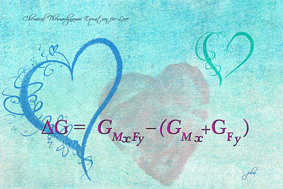Digital Art - Chemical Thermodynamic Equation For Love by Paulette B Wright