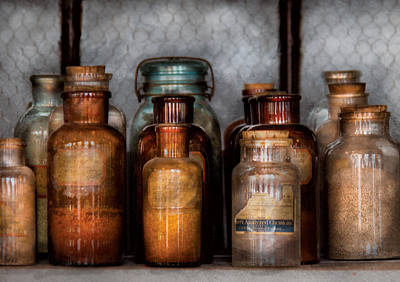 Creator Photograph - Chemist - Various Chemicals by Mike Savad