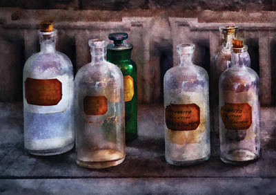 Chemistry - Saturated Solutions Art Print by Mike Savad