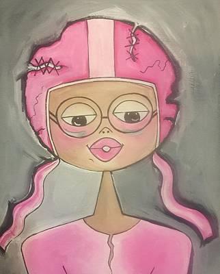 Painting -  Chemotherapy Helmet by Deborah Carrie