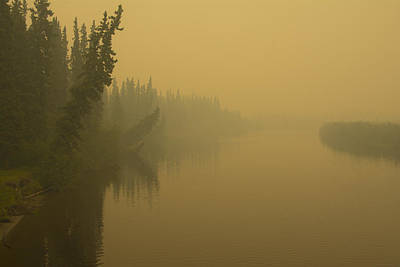 Print featuring the photograph Chena River by Gary Lengyel