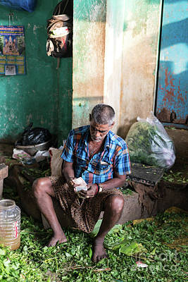 Photograph - Chennai Vegetable Market Commerce by Mike Reid