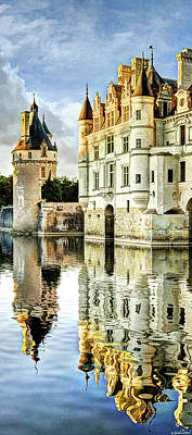 Photograph - Chenonceau Castle In The Sunset by Weston Westmoreland