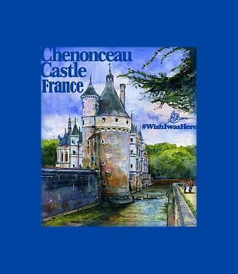 Chenonceau Castle Shirt Art Print