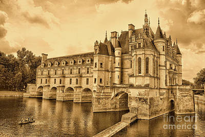 Chenonceau Art Print by Nigel Fletcher-Jones