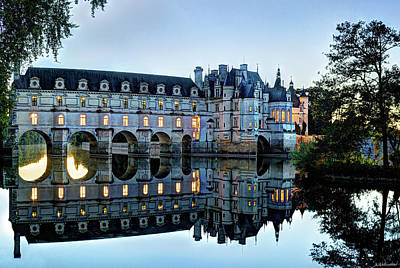 Photograph - Chenonceau Twilight In Blue Closer by Weston Westmoreland
