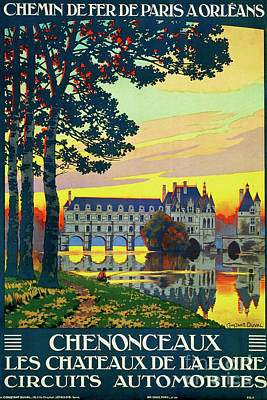 Chenonceaux, French Travel Poster Art Print