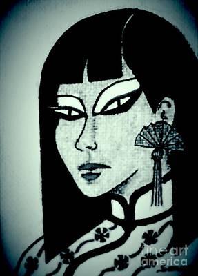 Cheong-sam -- Nocturnal Art Print by Jayne Somogy