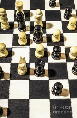 Decisions Photograph - Chequered Strategic Battle by Jorgo Photography - Wall Art Gallery