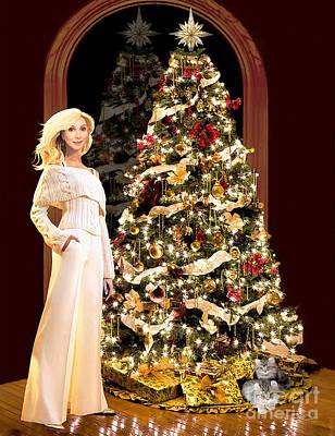 Malibu Mixed Media - Cher Malibu Christmas  by Donna Schellack