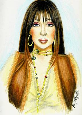 Cher Art Print by Scarlett Royal