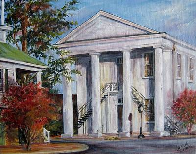 Cheraw Town Hall In The Fall Art Print by Gloria Turner