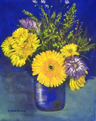 Cheris Flowers Art Print by Olga Kaczmar