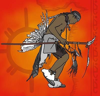 Cherokee 1 Art Print by M Blaze Wolenski