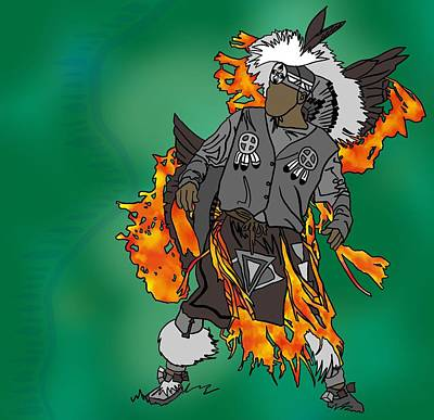 Cherokee 2 Art Print by M Blaze Wolenski