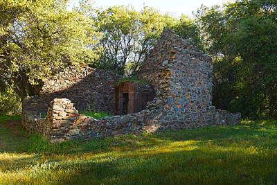 Photograph - Cherokee Gold Assayers Office Ruins by Frank Wilson