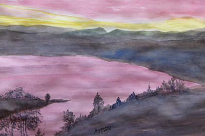 Painting - Cherokee Lake - Watercolor Sketch  by Joel Deutsch