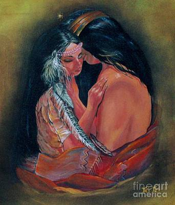 Comfort Painting - Cherokee Passion by Gigi  Cook