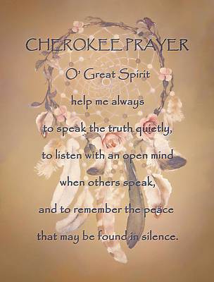 Digital Art - Cherokee Prayer by HH Photography of Florida