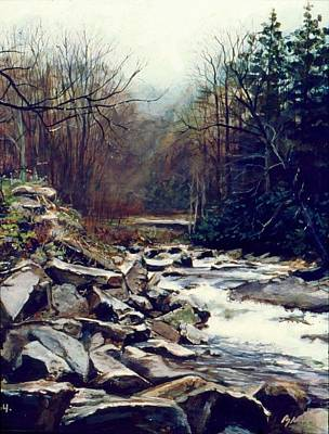 Cherokee Stream Art Print by William  Brody
