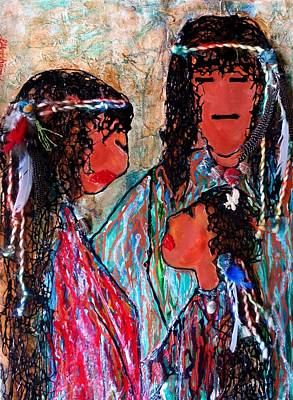 Trail Of Tears Series Painting - Cherokee Trail Of Tears Brave Family by Laura  Grisham