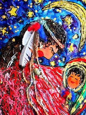 Cabochon Painting - Cherokee Trail Of Tears Mother And Child by Laura  Grisham