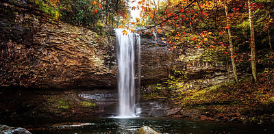 Photograph - Cherokee Waterfall In Cloudland Canyon by Debra and Dave Vanderlaan