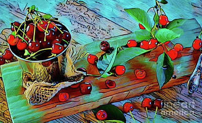 Photograph - Cherries 18118 by Ray Shrewsberry